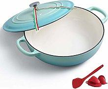 26Cm Enamel Cast Iron Casserole Dish, Enameled