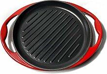 26cm Round Enameled Heavy Duty Cast Iron Grill