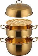26cm Steamer Pan Set Stainless Steel Steamer Pot