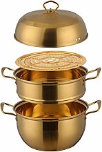 26cm Steamer Pan Set Stainless Steel Steamer Pot