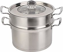 26CM Steamer Pot, Stainless Steel Double Layer