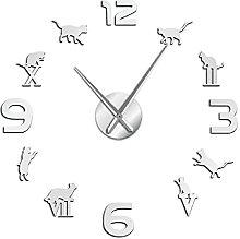 27 Inch Acrylic Wall Clock Roman Arabic Numerals