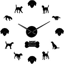 27 Inch American Foxhound Silhouette Wall Clock