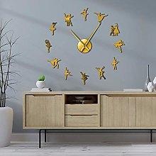 27 Inch Ballerina Wall Art DIY Large Wall Clock