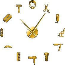 27 Inch Beard Style Barbershop Large Wall Clock