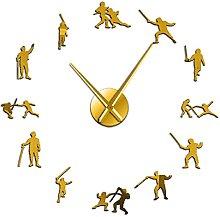 27 Inch DIY Wall Clock Fencing Modern Design Giant