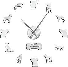 27 Inch Frameless Large Wall Clock Shepherd Silent