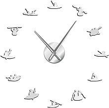 27 Inch Wall Clock Canoeing Rafting Water Sports