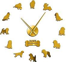 27 Inch Wall Clock Cockapoo Dog Breed Contemporary