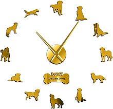 27 Inch Wall Clock Toller Dog Giant Diy Wall Clock