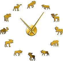 27 Inch Wall Clocks Lounge Wildlife Moose Diy