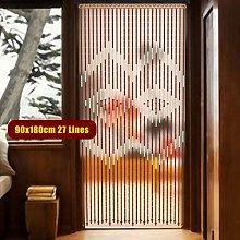 27 lines bamboo wooden bead chain door tassel