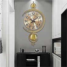 28 * 60CM Golden Wall Clocks,Decoration Wrought