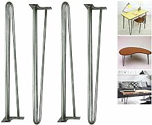 """28"""" Hairpin Raw Steel Table Legs Unfinished"""
