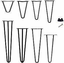 28 inch Black Hairpin Legs - 3 Rod Design 10mm