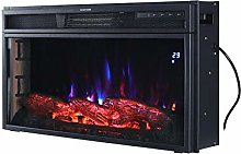 28 Inch Electric Fireplace Insert Mounted Fire