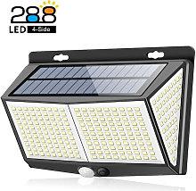 288LED Solar Powered Wall Light PIR Motion Sensor