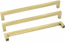 288mm Drawer Handles Brass 15 Pack Gold Cabinet