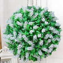 28CM Artificial Lavender Flowers Ball Grass
