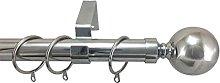 28mm Diameter Metal Curtain Pole Various Finials &