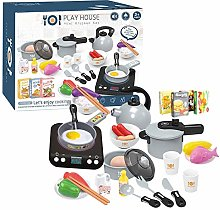 29 PCS Kids Kitchen Pretend Toy Cookware Role Play