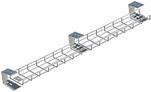 2900mm Long Under Desk Cable Tray Basket