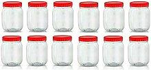 297 12 X 500ml Plastic Spice Jar Herbs Storage Pet