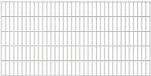 2D Garden Fence Panels Silver 2008x1030 mm 4 m -