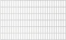 2D Garden Fence Panels Silver 2008x1230 mm 4 m -