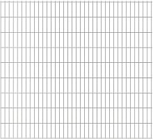 2D Garden Fence Panels Silver 2008x1830 mm 4 m -