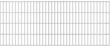 2D Garden Fence Panels Silver 2008x830 mm 4 m -