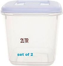 2L PLASTIC CANISTER FOOD STORER STORAGE CONTAINERS