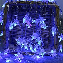 2M 10 LED Crystal Clear Star Fairy String
