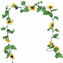 2m 20 LEDs Sunflower String Light Vine Fairy