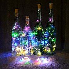 2M 20Led Solar Cork Wine Bottle Stopper Copper