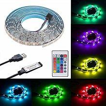 2m/6.56ft USB 120LEDs Strip Light Kit, RGB Color