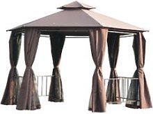 2m Hexagonal Gazebo Canopy Party Tent Garden