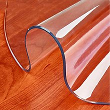 2mm Round Clear Plastic Tablecloth Clear PVC