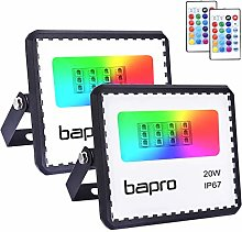 2pack 20W LED RGB Floodlights with Remote Control,