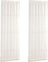 2Pack Breathable White 64x183cm French Door