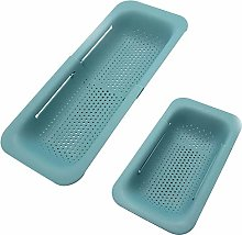 2Pack Kitchen Sink Basket Expandable Dish Drying
