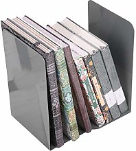 2Pack Metal Bookends Non Slip Book End Book Stand