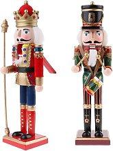 2PCS 30cm Puppet Doll Nutcracker Figurines