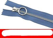 2pcs 5# Metal Zipper Platinum Close-end auto Lock