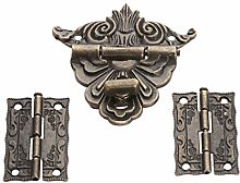 2Pcs Antique Bronze Cabinet Hinges with Jewelry
