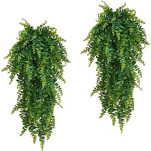 2pcs artificial fern plants for indoor and outdoor