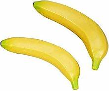 2Pcs Artificial Fruit Large Yellow bananas for