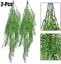 2PCS Artificial Hanging Plant Simulated Weeping