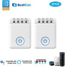 2PCS Bestcon MCB1 DIY Wifi Switch Wireless Smart