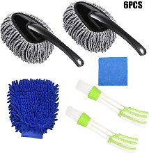 2pcs Blind Cleaning Brushes with 2pcs Car
